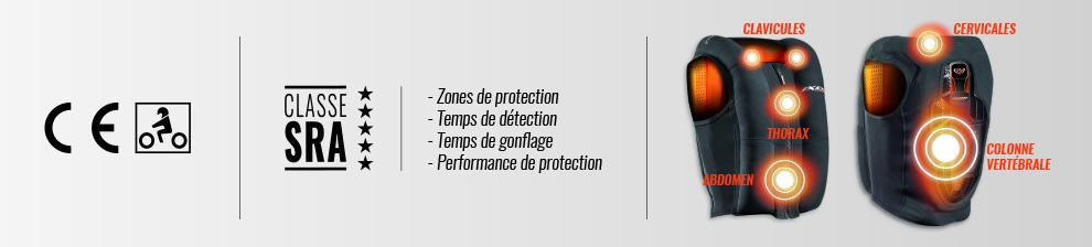 IXON Airbag connecté pour-moto - Protection SRA 5 étoiles - Accessoirement