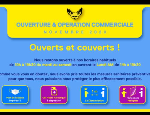 OUVERTURE & OPERATION COMMERCIALE NOVEMBRE 2020